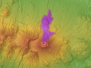 Mount Asama - Onioshidashi lava flow in 1783.