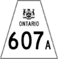 Highway 607A shield