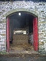 Open barn door at Spring House Farm - geograph.org.uk - 778425.jpg