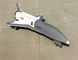 The X-34 on the tarmac