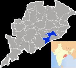 Vị trí của Huyện Khordha