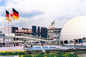 Michael Vetter - German Pavilion at Expo '70 (the spherical auditorium is out of view to the right)