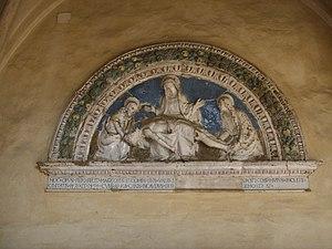 Hospital of Santa Maria Nuova -  The lunette of Giovanni della Robbia in the Cloister
