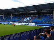 Otto Siffling Tribüne im Carl-Benz-Stadion des SV Waldhof Mannheim 07