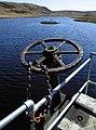 Outflow control at Llyn Cwm Byr dam - geograph.org.uk - 1263624.jpg