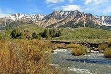 The Big Wood River below Boulder Mountains
