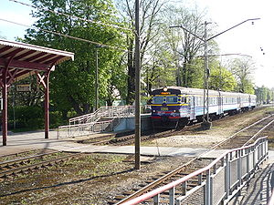 Pääsküla train in Nõmme station 14May2009.jpg