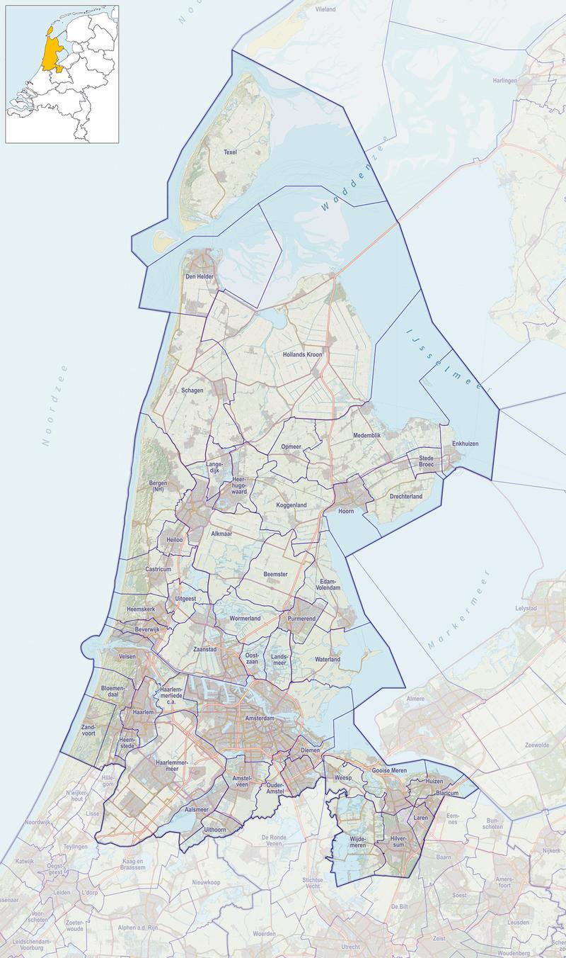 Sjabloon:Kaart molens in Noord-Holland - Wikipedia