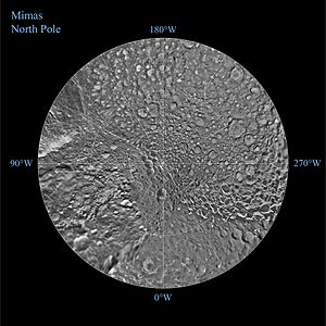 Mimas (moon) - North pole