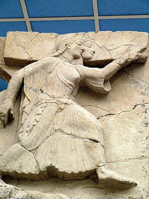 Foce del Sele - Dancing maidens from the later group of metope reliefs, c. 510 BC