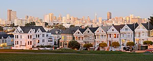 "Painted ladies - ""Painted Ladies"" near Alamo Square, San Francisco, California"