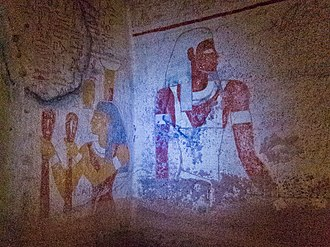 El-Kurru - Image: Painting in the ancient Nubian tombs at El Kurru near Karima, Sudan