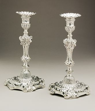 Paul Storr - Pair of candlesticks, 1833–34, Los Angeles County Museum of Art