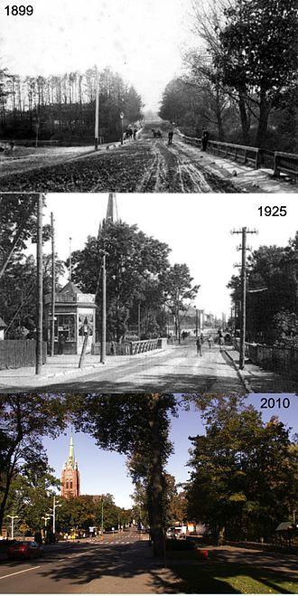 Palanga - Liepojos-Vytauto streets 1899–1925–2010