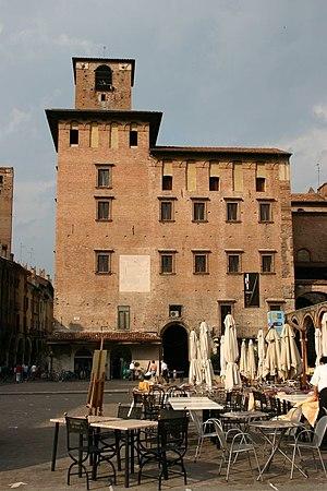 Palazzo del Podestà, Mantua - Piazza delle Erbe facade