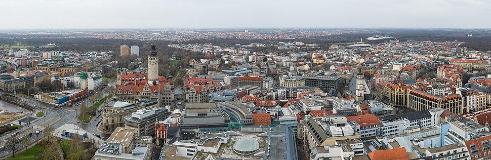 Panorama Leipzig Richtung Westen von Tower 2013