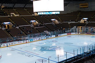 UW–Milwaukee Panther Arena - The Arena set up for a Milwaukee Admirals game in 2019