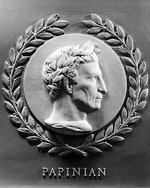 Aemilius Papinianus - Image: Papinian bas relief in the U.S. House of Representatives chamber