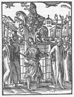 Ο Ποντίφικας στο θρόνο «Gestatoria Sedia»