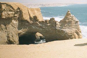 Paracas National Reserve - La Catedral, November 2000