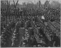 Parade in honor of returned fighters. Passing the reviewing stand. In the stand are, Governor Al . . . - NARA - 533509.tif