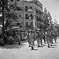 Parade ter gelegenheid van de eerste herdenking van de onafhankelijkheid. Op de , Bestanddeelnr 255-0361.jpg