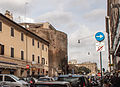 Part of the Roman bath complex among the buildings of Via del Viminale .jpg