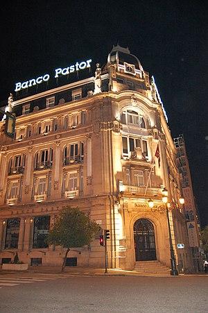 Banco Pastor - Main branch of the bank in Vigo.