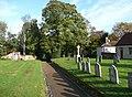 Path through the churchyard, Aylsham - geograph.org.uk - 1043091.jpg