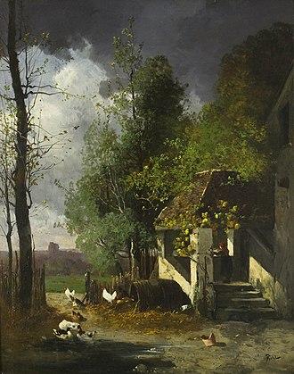 Paul Biva - Le Matin à Villeneuve l'Étang (1873), musée des beaux-arts de Troyes