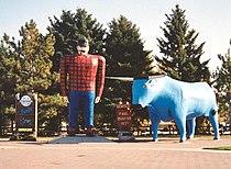 Paul Bunyan and Babe statues Bemidji Minnesota crop.JPG