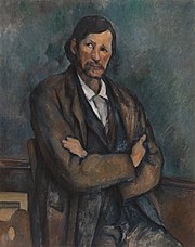 Paul Cézanne, c.1899, Homme aux bras croisés (Man With Crossed Arms), oil on canvas, 92 x 72.7 cm, Solomon R. Guggenheim Museum.jpg