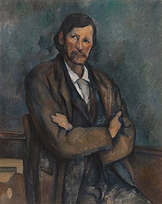 Solomon R. Guggenheim Museum - Image: Paul Cézanne, c.1899, Homme aux bras croisés (Man With Crossed Arms), oil on canvas, 92 x 72.7 cm, Solomon R. Guggenheim Museum