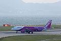 "Peach Aviation with Special Marking ""Viloetta Rune"", MM157, Airbus A320-214, JA814P, Departed to Fukuoka, Kansai Airport (16565588074).jpg"