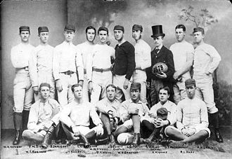 Penn Quakers football - One of the first teams of the University, 1878.