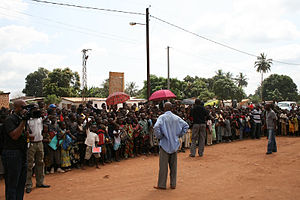 People at the Bangui Local School