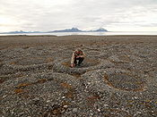 Permafrost when melting will release carbon as greenhouse gases in a process called cryoturbation Image: Hannes Grobe.