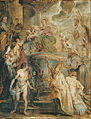 Peter Paul Rubens - The mystical marriage of St. Catherine (Front of a double-sided painted Panel) - Google Art Project.jpg