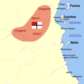 """German East Africa Company - First territory (""""Petersland"""") claimed by the German East Africa Company 1885"""