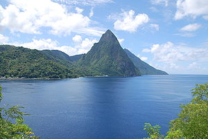 Petit Piton, St. Lucia. Gros Piton in the back...