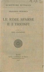 Petrarch: Le rime sparse e i Trionfi