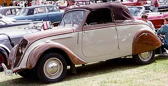 Peugeot 202 - Image: Peugeot 202 Coupe Decapotable 1948