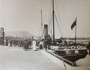 SS Peveril (1884) - Peveril pictured at Ramsey.