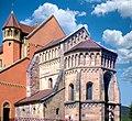 Pfaffenheim, Pfarrkirche Sankt Martin, Chor und fünfeckige Apsis, Südostseite.jpg