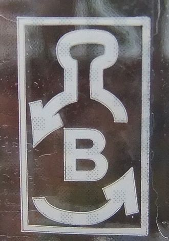 "Container deposit legislation - Deposit symbol in Estonia (""B"" on a 1.5 L-bottle)"