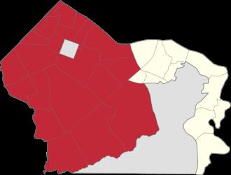 Legislative districts of Makati - Location of 1st District of Makati