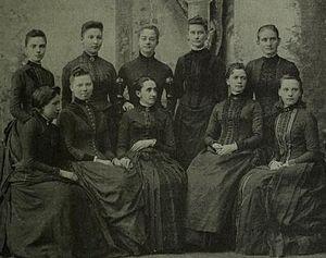 Abbot Academy - Philena McKeen with graduates in 1864