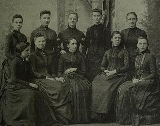 Abbot Academy - Philena McKeen with graduates in 1864