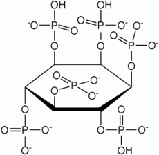 Structure of the metal chelator phytic acid.