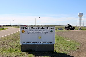 Piñon Canyon Maneuver Site - One of the site's entrances along U.S. Route 350.